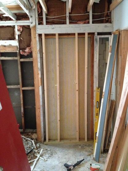 Old main door getting closed off