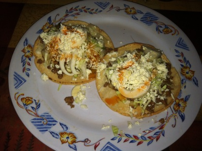 Tacos de Res -- Honduran version of tacos