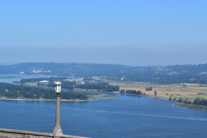 Colombia River with Washington state in the horizon